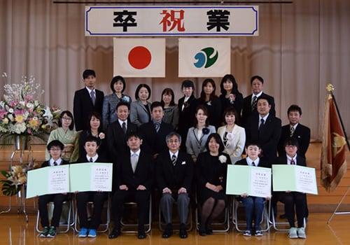 口内小学校卒業式