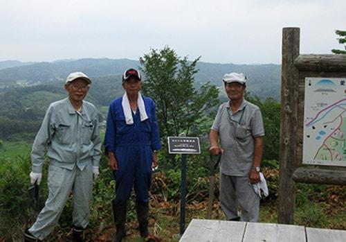 景観資産にプレートを設置