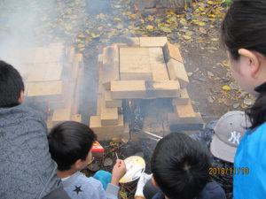 耐火レンガで窯作り