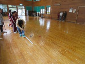 ジュニアゲートボール練習風景