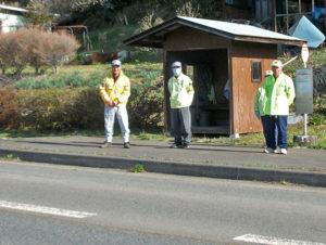 交通安全朝の街頭指導